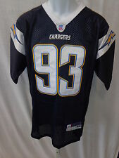 San Diego Chargers NFL Castillo Replica Sewn Football Jersey Navy #93