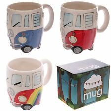 Novelty Camper Van Mug - Cup Gift Boxed Funky Hippy Peace VW Style Shaped