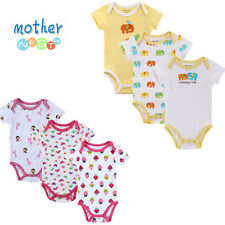 6 PCS Top Quality Baby Boy Girl Romper Baby Summer Overalls Newborn Clothes