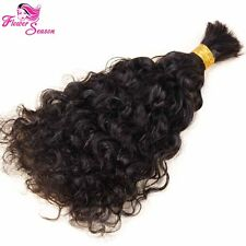 Curly Human Braiding Hair Bulk Brazilian Virgin Hair Extension Kinky Curly Bulk