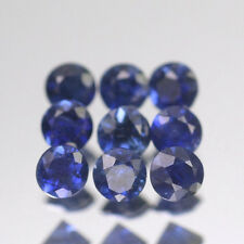 1.7mm Lot 1,2,6,10 pcs Heated only! Round Calibrated Natural Blue SAPPHIRE