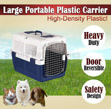 3 Size Portable Pet Carrier Dog Cat Rabbit Plastic Travel Bag Cage House Kennel