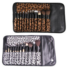 Cosmetic Pro Makeup Brush Set Kit 12pcs Leopard Pouch Bag Case GSE