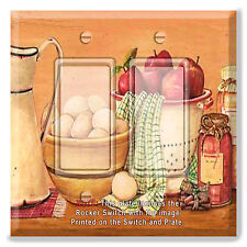 Light Switch Plate Cover Eggs Apples Jam Kitchen w/ Rocker Switch or Outlet