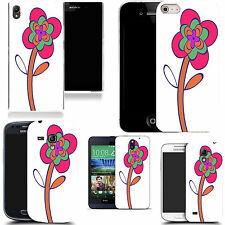 case cover for majority Popular Mobile phones -pink leaning flower silicone