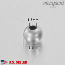 Wholesale 925 Sterling Silver Round Spacer Beads Jewelry DIY Findings 3.5x1.3mm