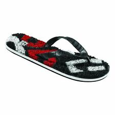 GLOBE NEW Merkin Matrix Flip Flops Red Black White BNWT