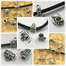 50x Tibet Silver Connector big hole Bails Beads Fashion Jewelry Findings DIY