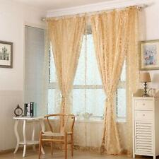 Sheer Curtain Valances Tulle Voile Door Window Drape Panel Scarf Home MKLG