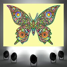 Butterfly Psychedelic Art poster print wall art decor