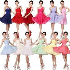 Sexy Party Evening Wedding Bridesmaid Prom Graduation Ball Short Dress Formal