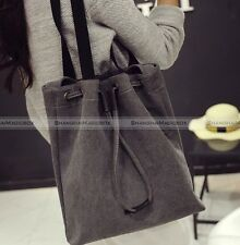 Womens Large Canvas Satchel Shoulder Bag Tote Shopper Purse Handbag
