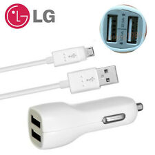 OEM Original LG Data Cable /Dual USB 3.1A Fast Car Charger For LG G2 3 4 Nexus