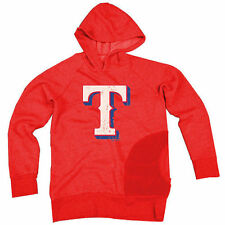 Majestic Threads Texas Rangers Red One Pocket Pullover Hoodie