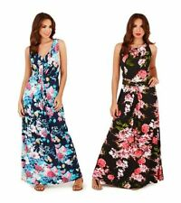 Pistachio Ladies Maxi Dress Long Womens Summer Floral Holiday Maternity Plus