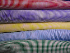 "1/8"" Gingham Polycotton Fabric - 45"" wide - by the metre - various colours"