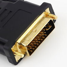 New  DVI Male to HDMI Female adapter Gold-Plated M F Converter For HDTV LCD csx