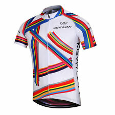 Color Stripes Men's Cycling Jersey Bicycle Clothing Bike Cycle Jersey Jacket