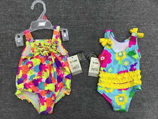 Newborn Infant Baby Girls Swimwear Floral One Piece Swimsuit 3/6/9/12/18/24Month