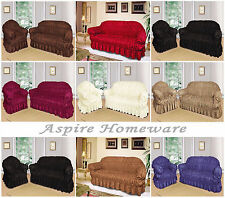 Large Jacquard Sofa Settee Covers 1,2,3 Seater / arm chairs / Universal Fitting