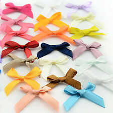 1000 pcs Mixed Colors Satin Flower Ribbon Craft Appliques Embellish Wholesale