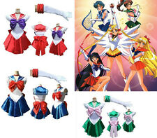 Sexy Party Fancy Dress Up Sailor Moon Cosplay Costume Dress & Gloves One Size
