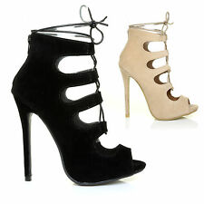 HOT NEW Womens Lace Tie Up High Heels Ghillie Ladies Sandals Platform Shoes Size