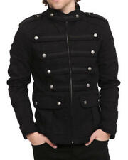 Men's Handmade Black Guard Military Band Jacket Goth Steampunk Vintage Pea Coat