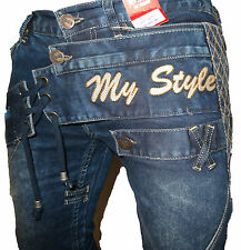 MENS BAR OF DENIM MAGIC JEANS BLACK DESIGNER BRANDED STRAIGHT WASHED FUNKY DENIM