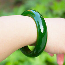 Chinese natural spinach green jade hand-carved jewelry jade bracelet bangle