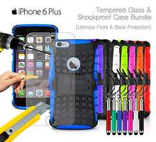 Apple iPhone 6 Plus - Shockproof Grip Case Cover, Ret Pen & Tempered GLASS