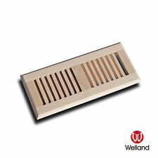 """Welland 4""""x12"""" Self Rimming Solid Wood Floor Vent Multi Colors Species Available"""