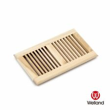 """Welland 6""""x10"""" Self Rimming Solid Wood Floor Vent Multi Colors Species Available"""