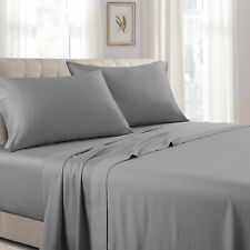 Egyptian Cotton 300 Thread Count Attached  Solid  Waterbed Sheet Collection