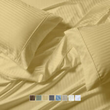 Wrinkle-Free Striped 650 Thread Count Cotton Unattached Waterbed Sheet Set