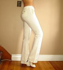 $190 Seven 7 For All Mankind Bootcut Trousers Lightweight Pants Jeans White 28