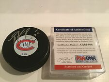 Patrick Roy Signed Montreal Canadiens Vintage Hockey Puck PSA/DNA COA Auto. 1A