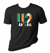 U2 t shirt - U2 with Irish Flag - U2 - Bono - Rock Band, Sizes S-6X, Irish Rock