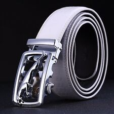 Fashion Casual Mens Leather Alloy Automatic Buckle Crocodile Leather Strap Belts