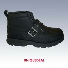 "New * KINGSHOW * Mens  Waterproof  6"" Leather Winter Snow Boots 1158-- BLACK 6.5"