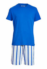 PETER ALEXANDER PJS Mens Classic Set Shorts & Top Size M/XL BNWT Cotton PJ Blue