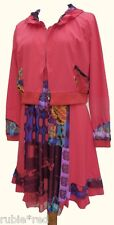 NEW WT Boutique Quirky Boho Dress & Jacket Set Red SIZES 16 18 20