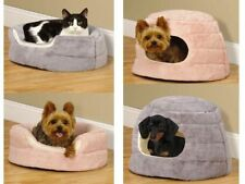 Slumber Pet-CUDDLER - 2 in 1 - Dog Puppy Cat Cozy Soft Bed Hideaway or Bolster