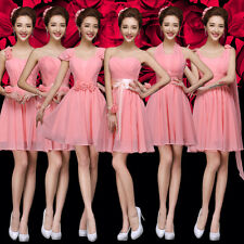 Sexy Party Evening Wedding Bridesmaid Prom Graduation Ball Short Dress Formal &6