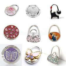 Foldable Rhinestone Purse Bag Support Hanger Handbag Table Hook Holder Gift