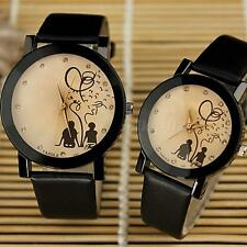 Womens Watches Lovers Men Leather Quartz Analog Wrist Watch Couple Watch MKLG