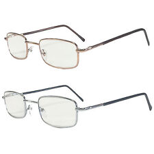 UNISEX QUALITY FOLDED FLEXIBLE METAL ROSE GOLD SILVER CLASSIC READING GLASSES