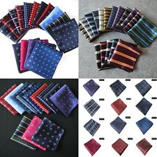 Men Silk Stain Printing Pocket Square Hankie Handkerchief Wedding Banquets