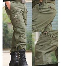 Outdoor Mens military camo pants overalls cargo Casual tactical pockets trousers