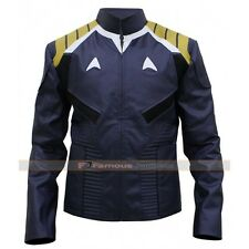 Star Trek Kirk Chris Pine Beyond Men's Leather Jacket Costume